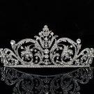 Europe Imperial Style Flower Tiara Crown Wedding Clear Rhinestone Crystal XBY158