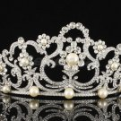 Tiara Crown with Swarovski Crystal Imitated Pearl for Bridal Wedding SHA8460