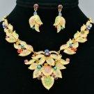 Gorgeous Mix Swarovski Crystal Flower Necklace Earring Set Women Jewelry SNA3184