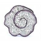 "Graceful Grape Purple Rhinestone Crystals Flower Brooch Broach Pin 2.6"" 5846"