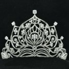 Noble Clear Rhinestone Crystals Flower Tiara Crown For Wedding Pageant 17364R