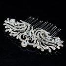 Pretty Flower Hair Comb Hair Jewelry for Bridal Wedding Rhinestone Crystal 2262R