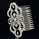 Europe Imperial Style Bridal Flower Hair Comb Clear Rhinestone Crystals XBY123FS