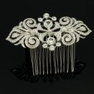 Cute Clear Rhinestone Crystal Bridal Wedding Flower Hair Comb Hair Jewelry 2035R