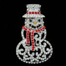 New Gift Christmas Father Brooch Pins Rhinestone Crystals for Christmas S1136-P