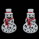 New Gift Christmas Father Christmas Earring Rhinestone Crystals Dangler S1136-E