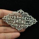 Pretty Rhombus Flower Brooch Pin Birde Wedding Jewelry Rhinestone Crystal XBY106