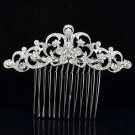 Pretty Bridal Prom Jewelry Clear Flower Hair Comb Rhinestone Crystals W/ 202249