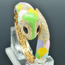 Animal Multicolor Enamel Snake Bracelet Bangle Swarovski Crystals SKCA2072L-2