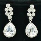 Wonderful Clear Rhinestone Crystals Zircon Drop Pierced Wedding Earrings 20662