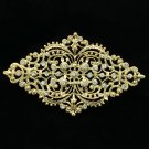 Simple Rhombus Palace Flower Bud Brooch Pin Rhinestone Crystal For Women XBY106