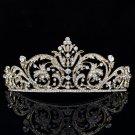 Vintage Style Flower Tiara Crown Headband Prom Pageant Rhinestone Crystal XBY158