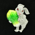 Swarovski Crystals Cabbage Clear Bunny Rabbit Brooch Broach Accessories 4507