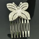 Rhinestone Crystal Cute Butterfly Hair Comb Headband Women Wedding Bridal XBY054