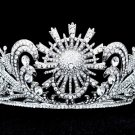 Weding Bridal High Quality Flower Tiara Crown W/ Clear Swarovski Crystals SH8583