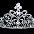 Excellent Wedding Bridal Prom Floral Tiara Crown Clear Swarovski Crystals SH8584
