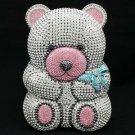 High Quality Clear Bear Clutch Evening Bag Purse Handbag W/ Swarovski Crystals