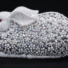 Swarovski Crystals Clear Bunny Rabbit Handbag Clutch Evening Purse Bag