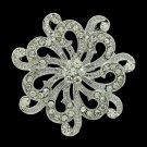 Europe Imperial Style Rhinestone Crystal Flower Brooch Broach Pin Bridal XBY121