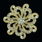Vintage Style Rhinestone Crystal Floral Flower Brooch Pins Women Jewelry XBY121