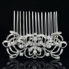 Cute Clear Flower Hair Comb Hair Jewelry Bridal Party Rhinestone Crystals 14011R