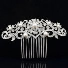 Imitated Pearl Flower Wedding Bridal Prom Hair Comb Rhinestone Crystal 1448R