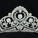 Stunning Bridal Flower Tiara Crown Clear Zircon Rhinestone Crystals 24356R