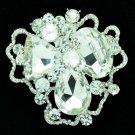 Bridal Cloud Flower Brooch Broach Pins Rhinestone Crystals Women Jewelry 6457