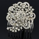 Cute Heart Flower Hair Comb Headband Wedding Bride Women Rhinestone Crystal 4660