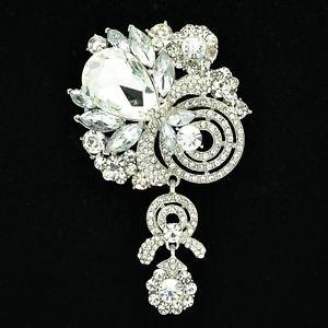 Wedding Bridal Flower Fruit  Brooch Pin Swarovski Crystals Pendant Jewelry 6456