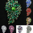 Charming 9 Color Flower Floral Brooch Broach Pin Jewelry Rhinestone Crystal 4080