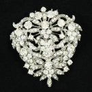 Rhinestone Crystals Flower Brooch Broach Pins Wedding Jewelry Accessories 3802