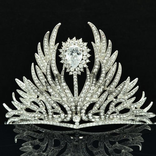 Excellent Swarovski Crystals Tiara Crown for Bridal Wedding Prom Pageant SHA8630
