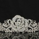 Swarovski Crystals Rose Flower Tiara Crown Wedding fit Sensitive Skin JHA7721