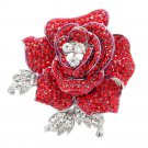 8 Color Rhinestone Crystals Lovely Rose Flower Brooch Broach Pins Jewelry FB1077