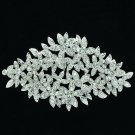 Elegant Leaves Flower Brooch Broach Pin Women Wedding Rhinestone Crystals XBY033