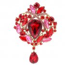 Rhinestone Crystal Drop Flower Brooch Broach Pin Women Jewelry 10 Colors 4082