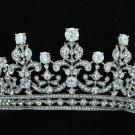 Wedding Big Tiara Crown Headbands with Clear Zircon Swarovski Crystals 17363RPL