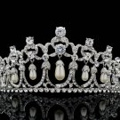 Swarovski Crystals Imitation Pearls Bridal Tiara Crown Bridal Wedding JHA8322