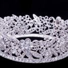 Mini Round Flower Tiaras Crown for Little Girl Clear Swarovski Crystals JHA3205B