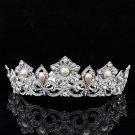 Swarovski Crystal Bridesmaid Prom Pageant Pearl Flower Tiara Crown  SHA8647