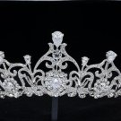 Pageant Flower Drop Tiara Crown fit Sensitive Skin Swarovski Crystals JHA8370-5