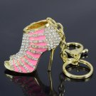 Smart High-Heel Shoe Key Rings Key Chain Enamel Rhinestone Crystals FB1082