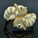 Austrians Crystals Sea Horse Bracelet Clear Enamel  Women's Jewelry SKCA1661