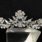 Swarovski Crystals Tiara Crown  Flower Leaves Bridal Wedding Prom JHA7751
