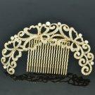 VTG Style Rhinestone Crystal Flower Bud Hair Comb Headband Party Jewelry XBY073