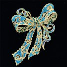 "4 Color Bow Bowknot Brooch Broach Pins 4.0"" Women Rhinestone Crystals 5823"
