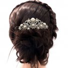 Smart Imitated Pearl Flower Hair Comb Wedding Jewelry Rhinestone Crystal 1446R1