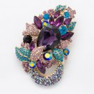 Charming Fasshion Austrians Crystal Flower Brooch Broach Pins Women Jewelry 6534