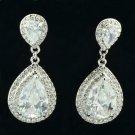 2 Color Wedding Bridal Zircon Tear Drop Earring W Rhinestone Crystals 10006